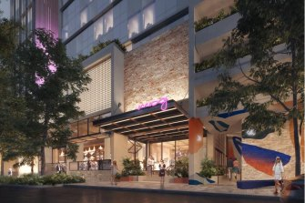 Artist impressions of the new 301-room Moxy hotel.