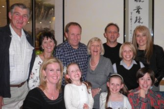 Sally-Ann Filgate celebrating her 70th birthday with her family.