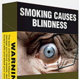 Plain packaging of cigarettes using graphic warning ads was introduced in 2012.