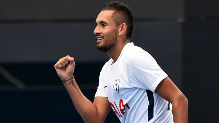 A happy Nick Kyrgios is ready for a fresh start in 2019.