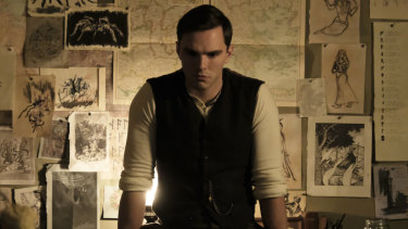 Nicholas Hoult as the young Tolkien.