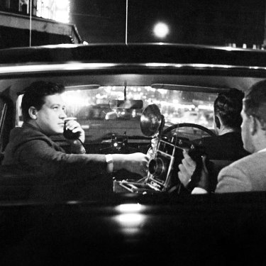 """A Fairfax reporter and """"snapper"""" on overnight police round in Sydney, 1965."""