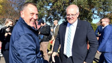 Prime Minister Scott Morrison - in Tasmania on Saturday - campaigned right up until the end.