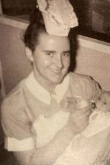 Maternal health nurse Margaret Hazelton as a trainee.