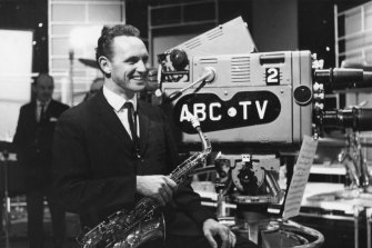 A young Don Burrows in the ABC studio.
