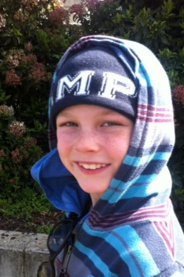 Bradyn Dillon, nine, pictured on one of the last occasions he saw his mother, Rachel Jones.
