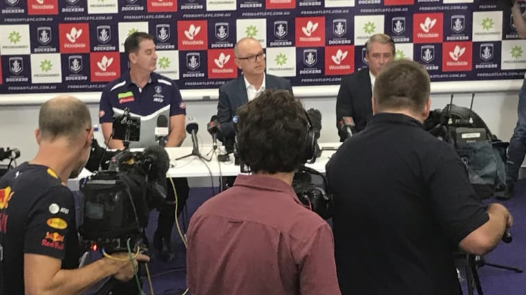Coach Ross Lyon, president Dale Alcock and CEO Steve Rosich address the harassment issue.