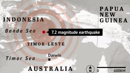 Darwin shaken by powerful earthquake originating in Indonesia