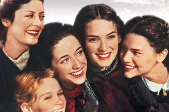 Susan Sarandon, Kirsten Dunst, Trini Alvarado, Winona Ryder and Claire Danes in the 1994 movie of Little Women.