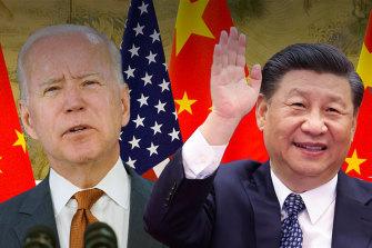 Rival investors: US President Joe Biden and Chinese President Xi.