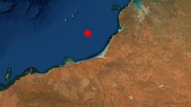 Where the earthquake is believed to have originated from.
