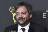 Adam Schlesinger in the press room at the Creative Arts Emmy Awards in Los Angeles in 2009.