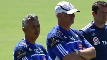 The old firm: Graham Arnold and Steve Corica steered Sydney FC to four pieces of silverware in their three seasons together.