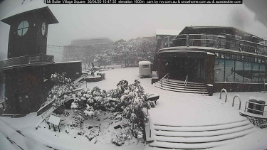 Snow in Mount Buller on Thursday.