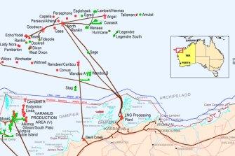 The North Rankin Complex is located off the Pilbara coast.