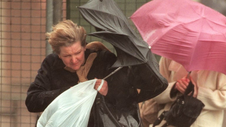 Rain lashed Perth for most of the day as the state records the wettest August in 53 years.