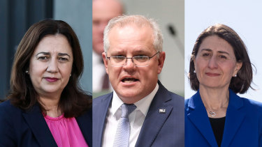 Prime Minister Scott Morrison will push state and territory leaders, including premiers Annastacia Palaszczuk and Gladys Berejiklian, to relax border restrictions for Christmas.