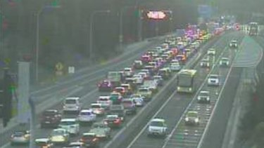 The truck crash has caused major delays on the M2.