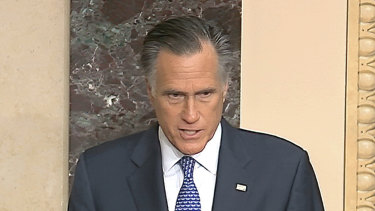 Senator Mitt Romney reveals he will vote to convict US President Donald Trump to remove him from office. .