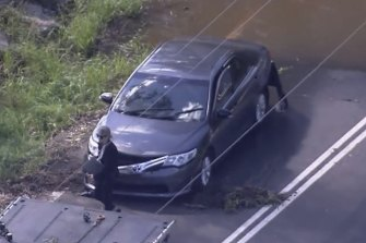 A man's body has been found inside a car in floodwaters in Glenorie in Sydney's north-west this afternoon.