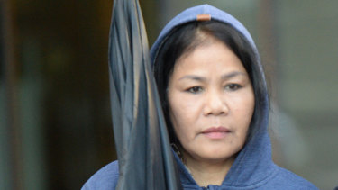 """Rungnapha """"Lisa"""" Kanbut leaves the Downing Centre District Court earlier this month."""