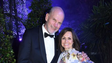 FitzSimons with wife, Lisa Wilkinson in 2016.
