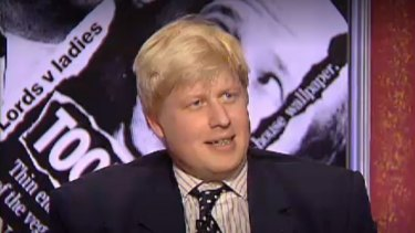 "Boris Johnson in one of his many appearances on ""Have I Got News for You""."