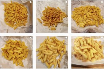 Different batches of chips being tested.