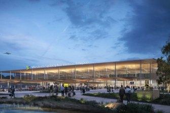 A concept design of the terminal's exterior.