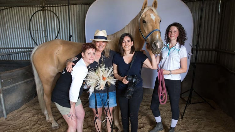Behind the scenes with Belinda Whitney, Loulou Moxom, Grace Costa Banson and Pia Cunningham.