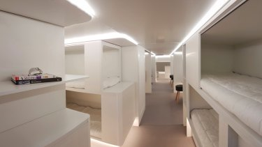 A bunk-bed concept Airbus has developed.