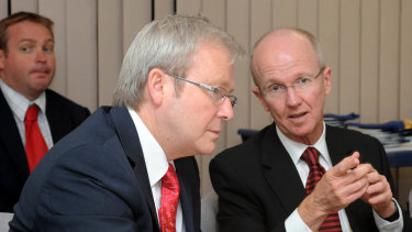 Stephen Ayre (right) was sacked by the Metro South Hospital and Health Service board.