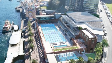 The controversial redesign of North Sydney Olympic Pool.