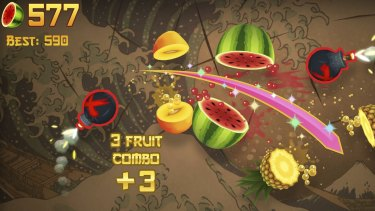 "Fruit Ninja is back and free of ads in the ""App Store Greats"" section of Apple Arcade."