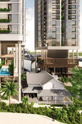 A new residential, tourism and lifestyle hub at 57 Coronation Drive by Maple Development Group is another example of large-scale subtropical design.