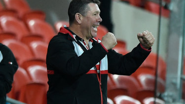 Saints coach Brett Ratten after is side's stirring win against the Suns.
