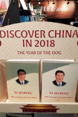 The works of Chinese President Xi Jinping translated and put on sale at a Sydney airport.