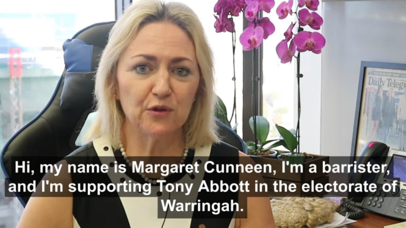 Former Crown prosecutor Margaret Cunneen's glowing endorsement of Tony Abbott