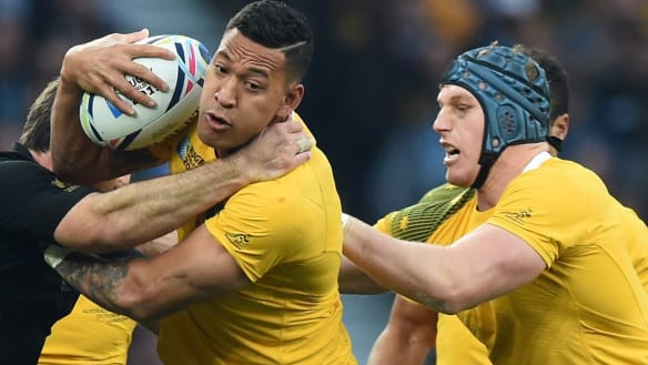 Folau and Pocock having an open exchange of views: Cheika