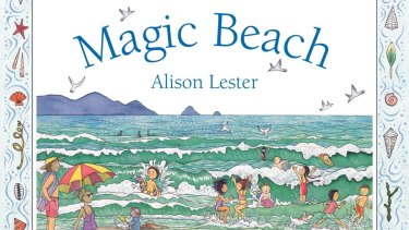 The cover of Alison Lester's book Magic Beach, which was inspired by her time spent at Walkerville.