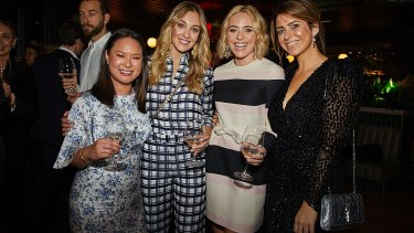 Social Seen: Alyce Tran, Yasmin Baildon, Deborah Symond O'Neil and Poppy O'Neil at the launch of The Penfolds Collection 2018 release at Smoke Bar, Barangaroo House, on Thursday, October 18, 2018.