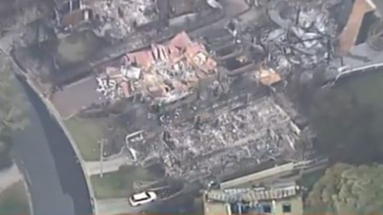 Some homes have been completely destroyed in Tathra.