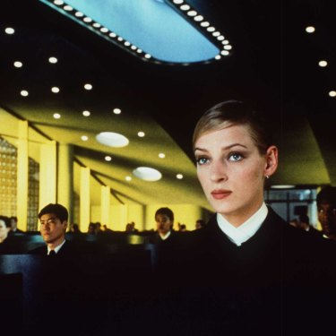 The 1997 film Gattaca imagines a future class divide between the enhanced (as played by Uma Thurman) and the unenhanced.