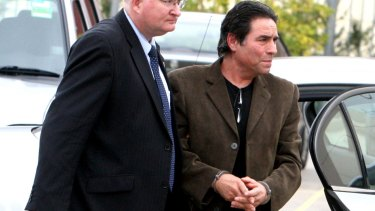 Lucky Gattellari, pictured in October 2010, when he was arrested for questioning in relation to the murder of Michael McGurk.