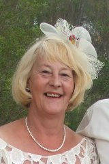 Joan Panos (pictured at her wedding in 2009) died in a hospital bed in Bendigo after trying unsuccessfully for to find a specialist willing to sign off her application to die using euthanasia laws.