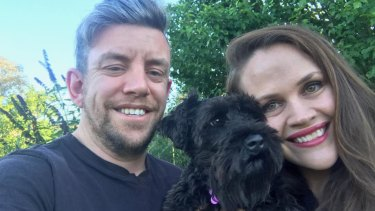 Canberra couple Mark Donaldson and Jane Power are overjoyed after being reunited with their miniature schnauzer 'Luna', who went missing in bushland on the south coast for 10 days.