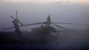 Australian SAS Soldiers on patrol near Bagram Afghanistan, September 2002