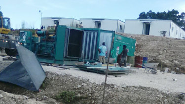 Photos from West Lorengau on Manus Island show the area of the new camp under construction.