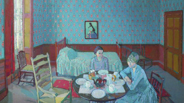 Harold Gilman's Tea in the Bedsitter (1916).