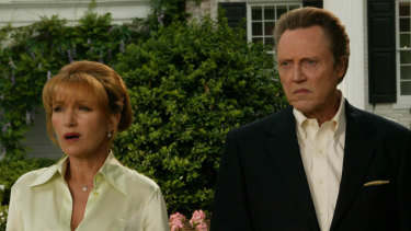 Jane Seymour and Christopher Walken in the 2005 movie Wedding Crashers.
